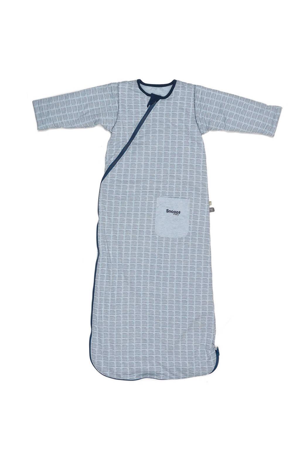Snoozebaby baby slaapzak 9-24 mnd handstripe blue melange, Blue Melange