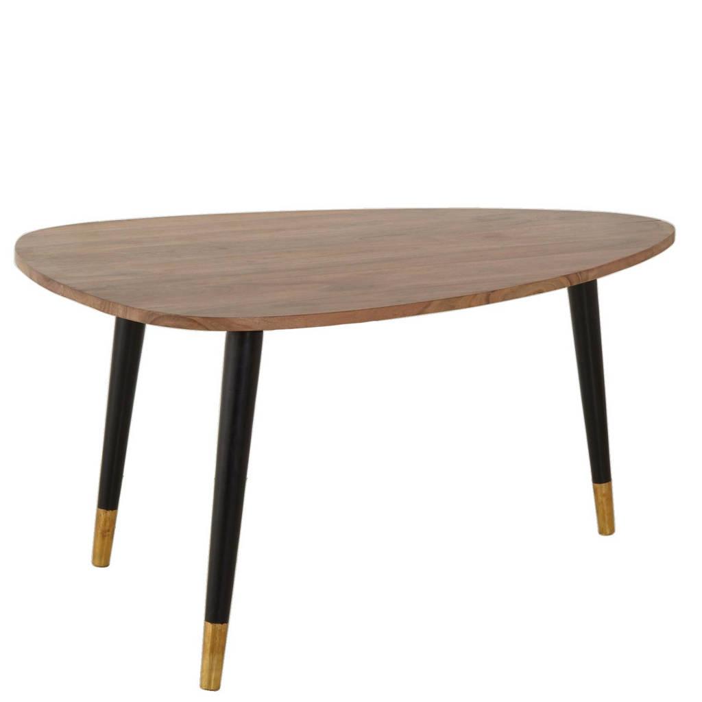 whkmp's own salontafel, bruin/zwart/goud