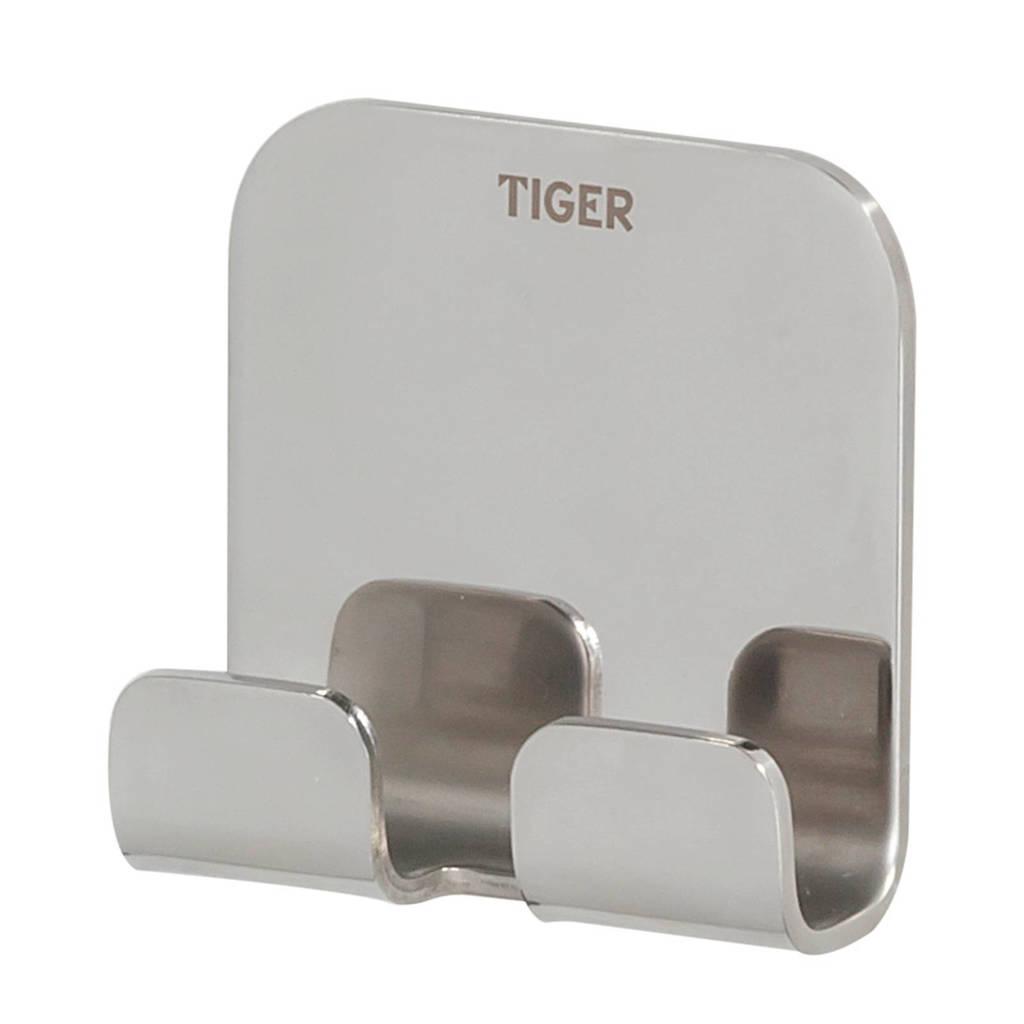 Tiger Colar handdoekhaak zilver, Zilver