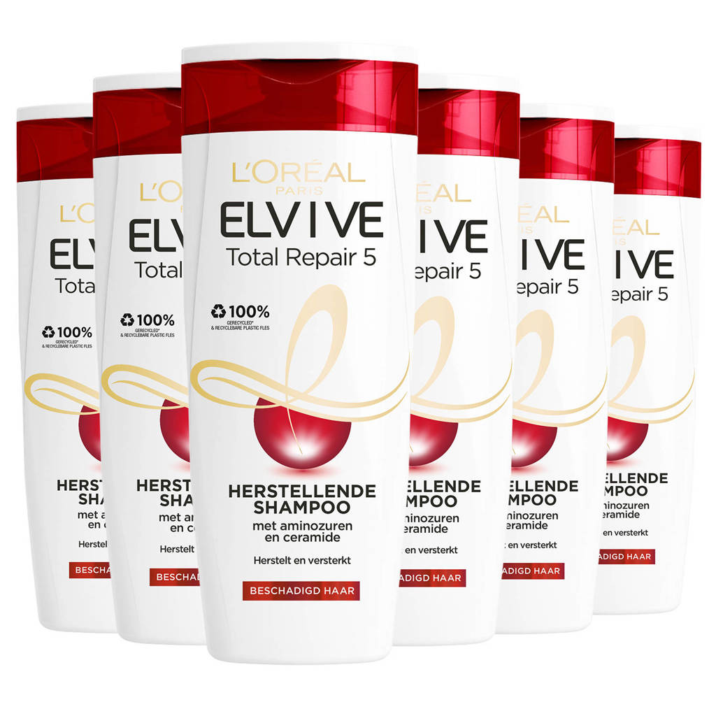 L'Oréal Paris Elvive Hair Expert Elvive Total Repair shampoo - 6x 250ml multiverpakking 6 stuks