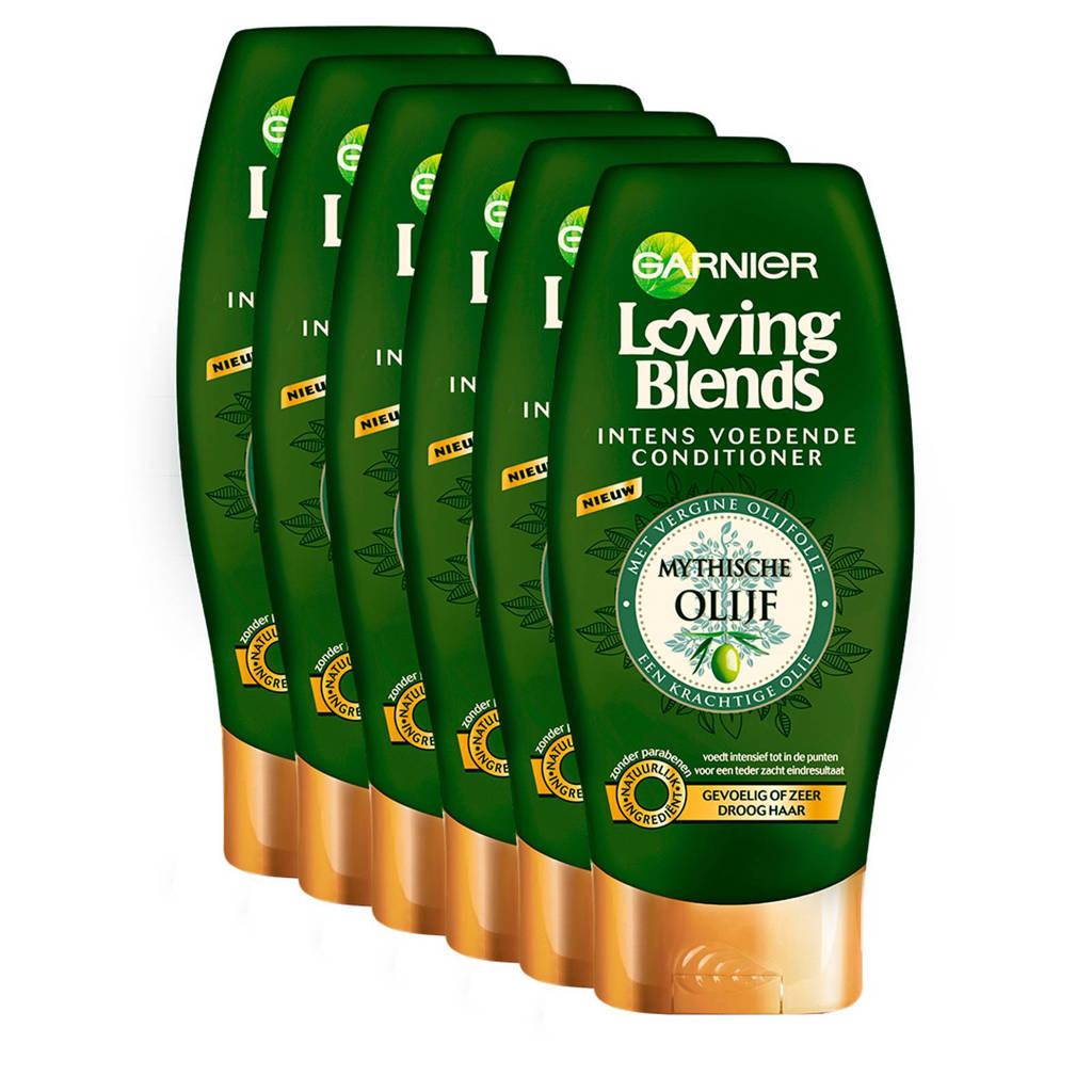 Garnier Loving Blends Mythische Olijf Crèmespoeling - 6x 200ml multiverpakking