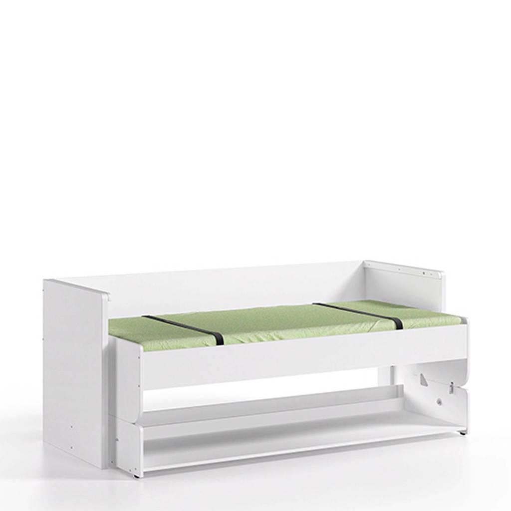 Vipack bed met bureau Denver (90x200 cm), Wit