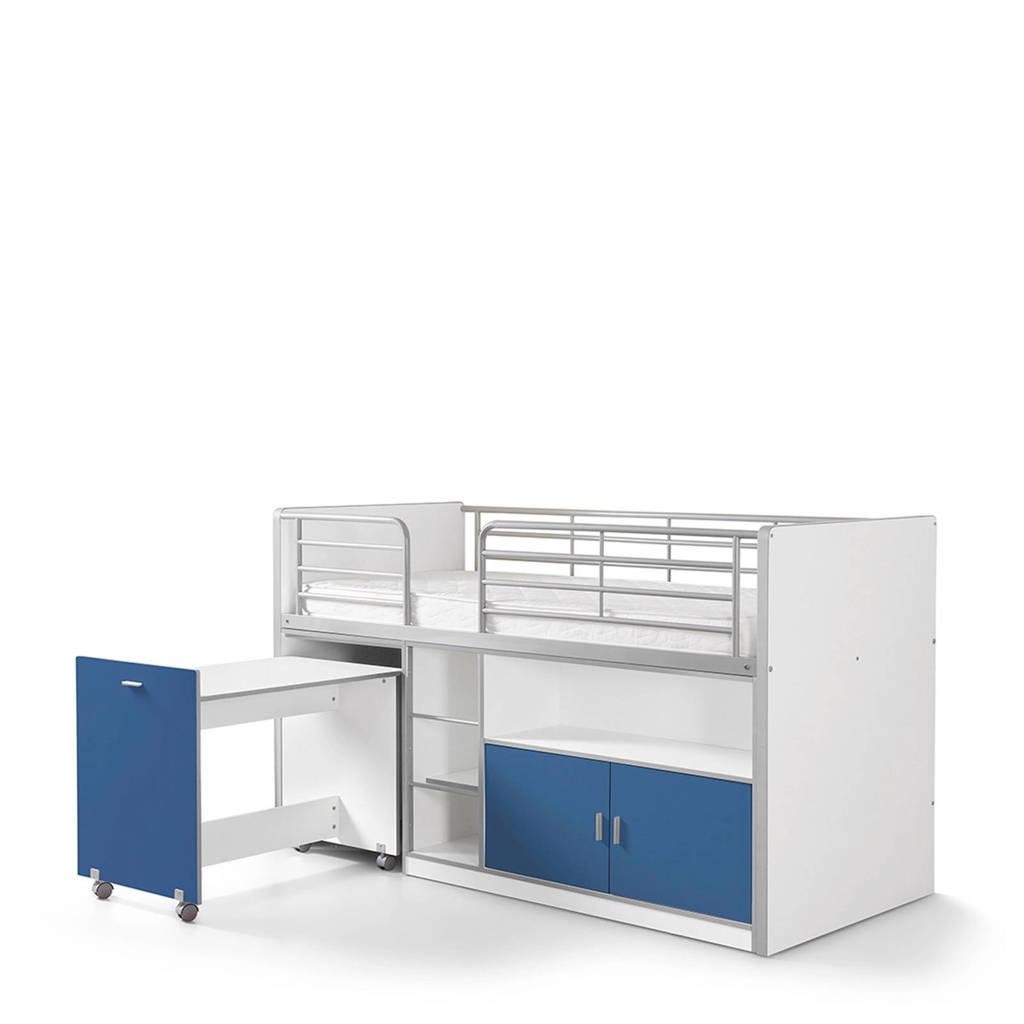 Vipack halfhoogslaper Bonny (90x200 cm), Wit/blauw