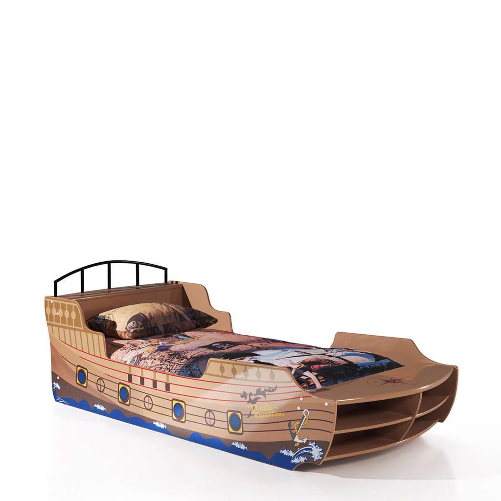Vipack kinderbed Piratenboot (90x200 cm), Bruin