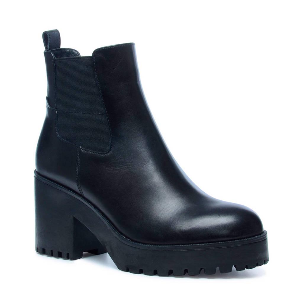 Sacha   leren chelsea boots, Zwart