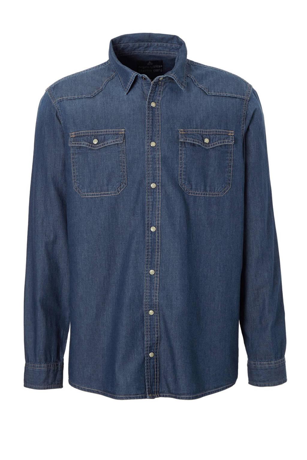 Slim Fit Denim Overhemd.C A Angelo Litrico Slim Fit Denim Overhemd Wehkamp