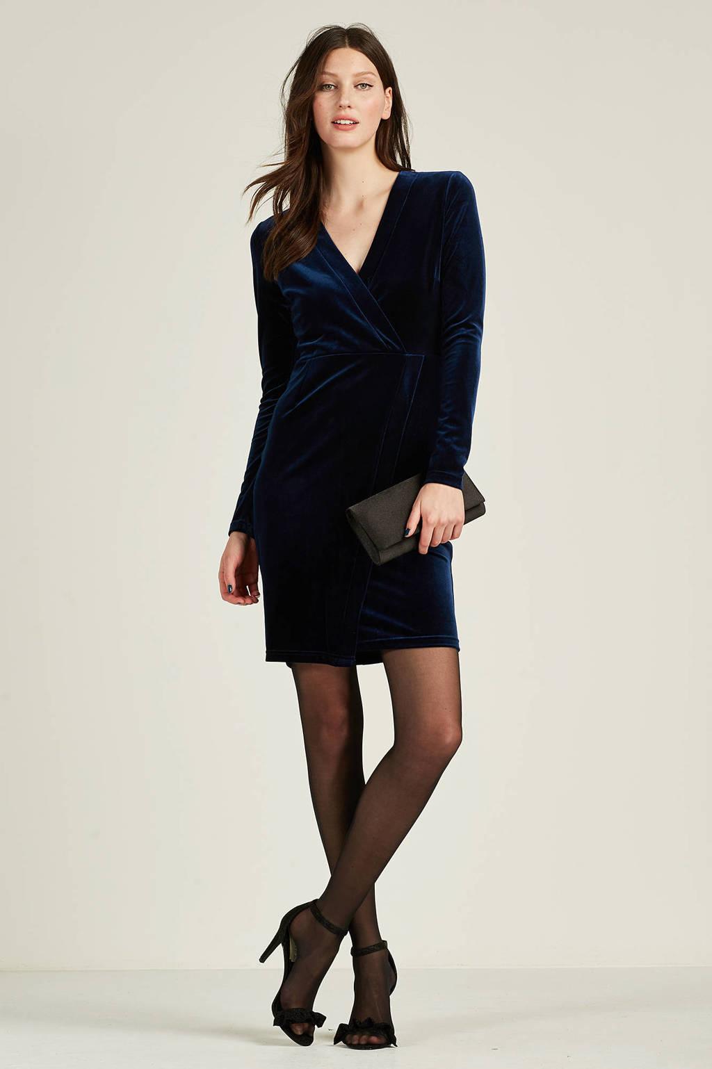 whkmp's own fluwelen jurk, Donkerblauw