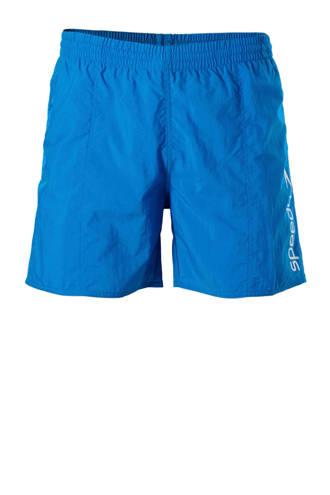 zwemshort met merknaam blauw