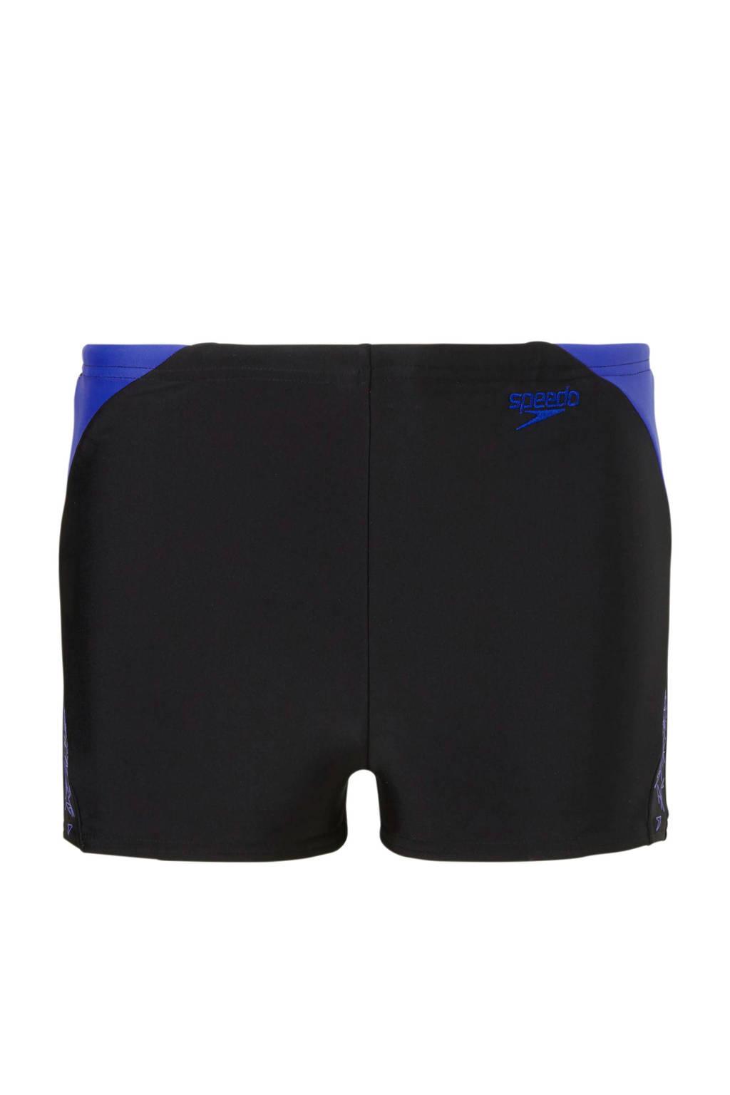 Speedo Endurance 10 zwemboxer junior zwart, Zwart/paars