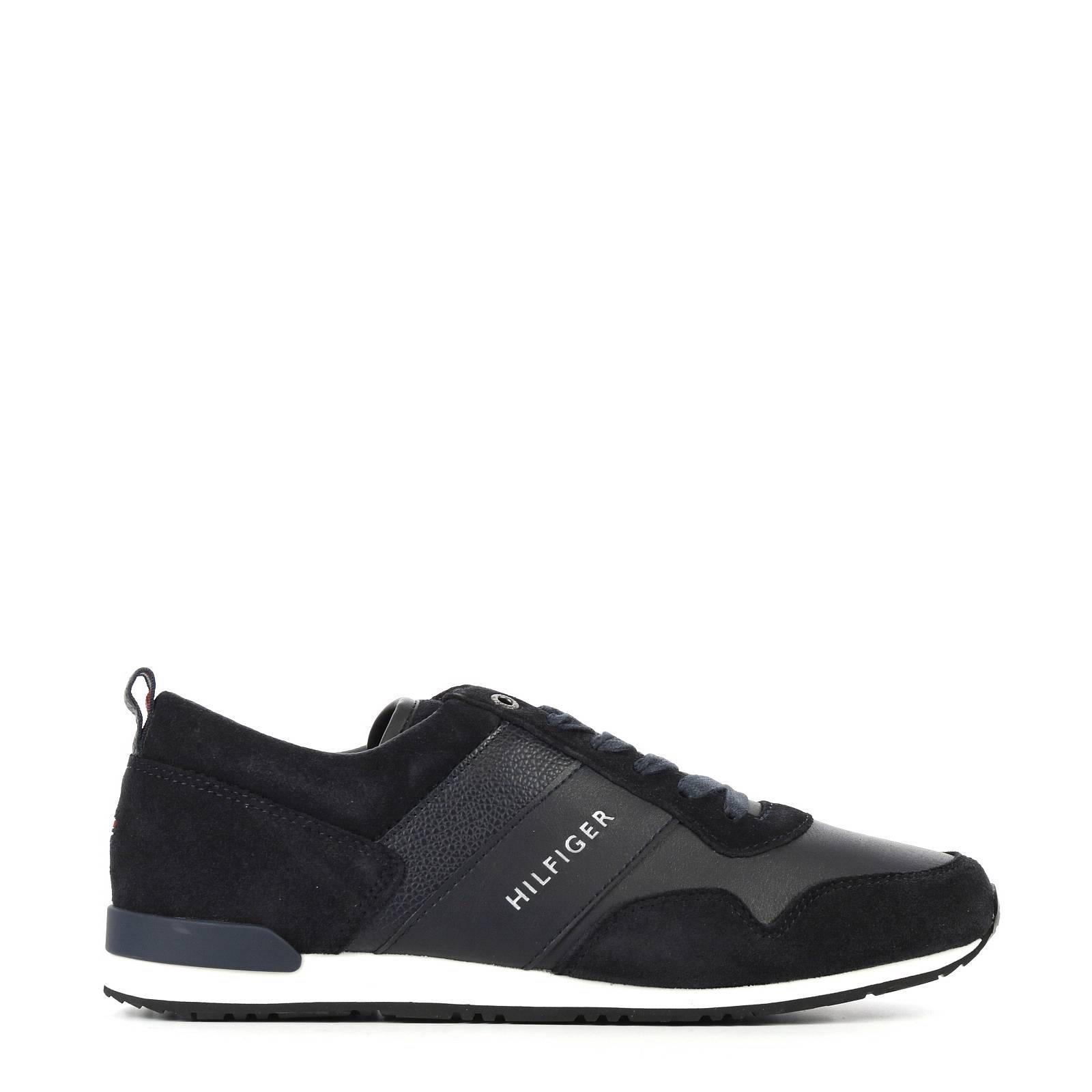 cb7123772 Tommy Hilfiger Maxwell II CL leren sneakers   wehkamp