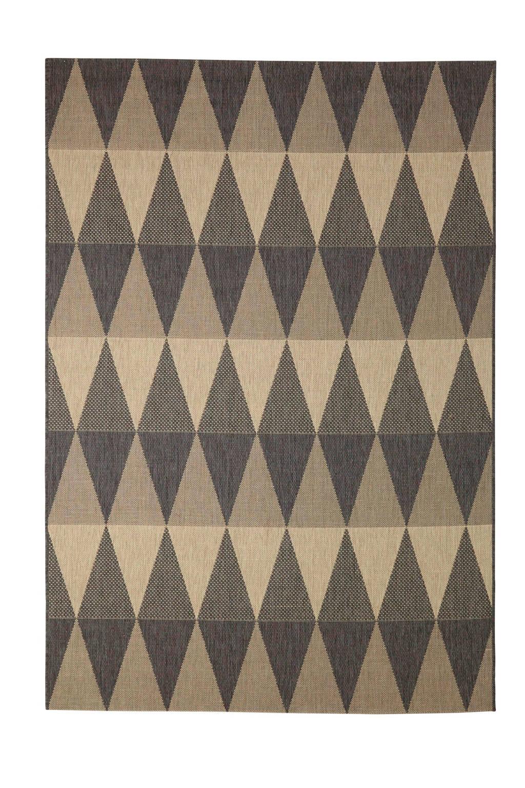 whkmp's own Vloerkleed  (230x160 cm), antraciet/zand