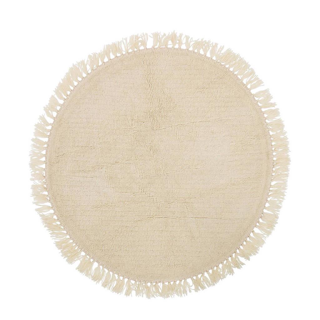 Bloomingville vloerkleed  (Ø110 cm), Roomwit
