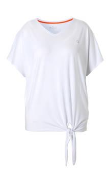 sport T-shirt met strik detail