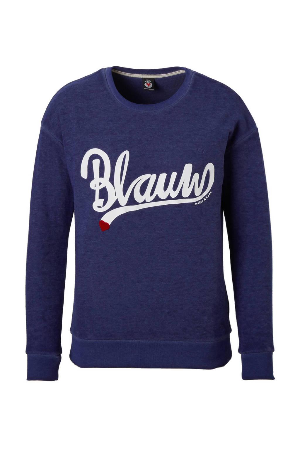 Trui Blauw Dames.Scotch Soda Burn Out Sweater Wehkamp