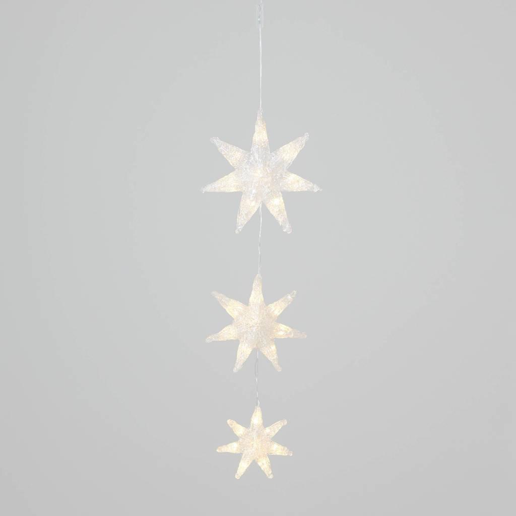 Konstsmide kerstster hanger (7-punts), Transparant