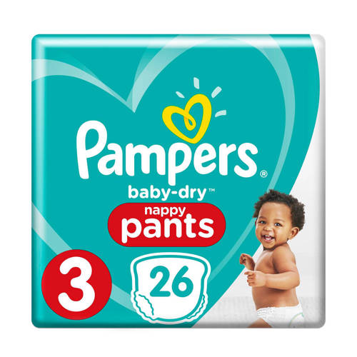 Pampers Baby-Dry Pants maat 3 (6 - 11 kg) 26 luierbroekjes kopen