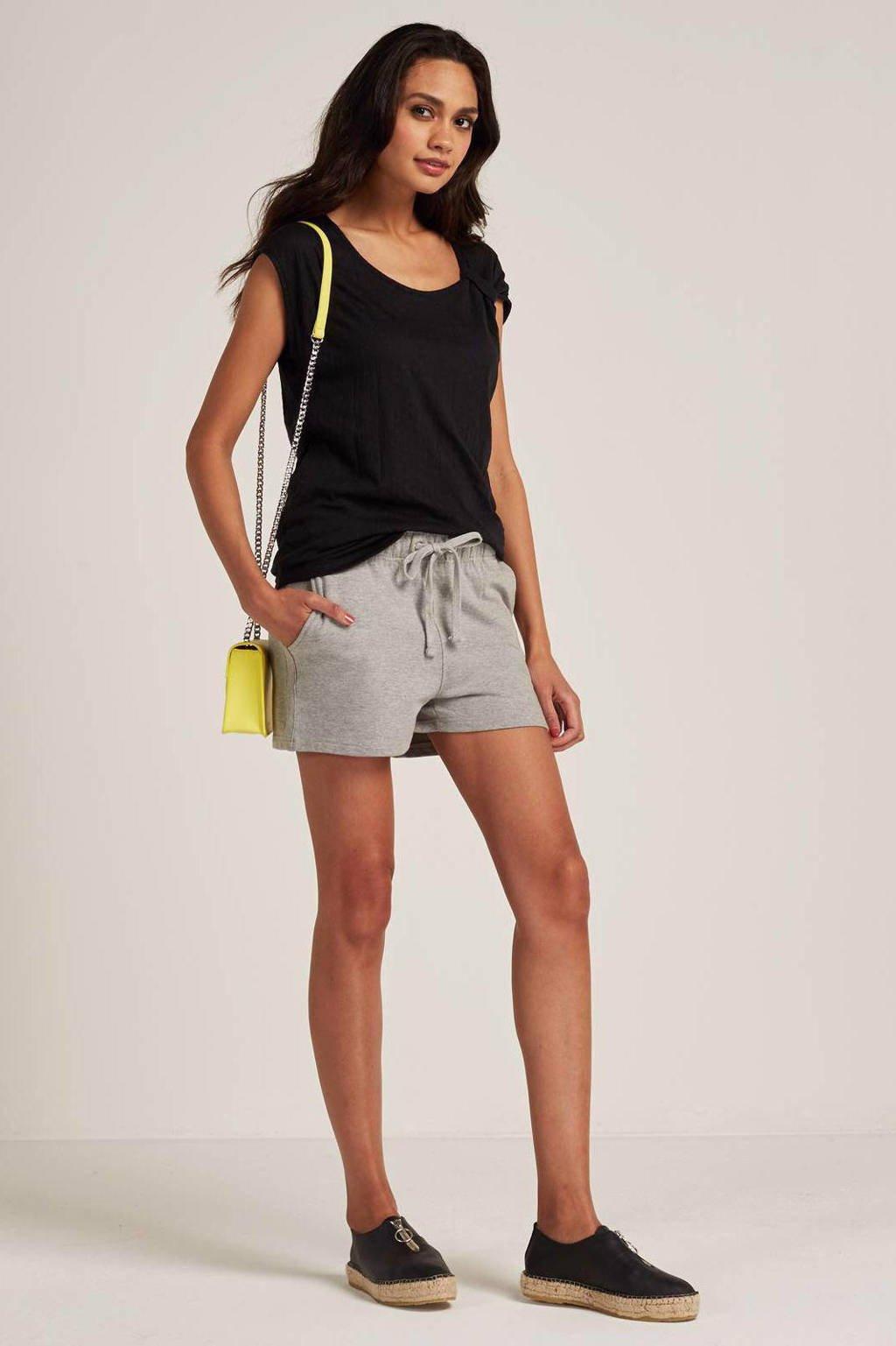 whkmp's beachwave T-shirt met knoopdetail, Zwart