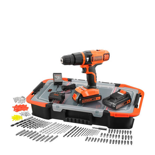 Black+Decker EGBL188BAST accu klopboor/schroefmachine + accessoireset (150st) kopen