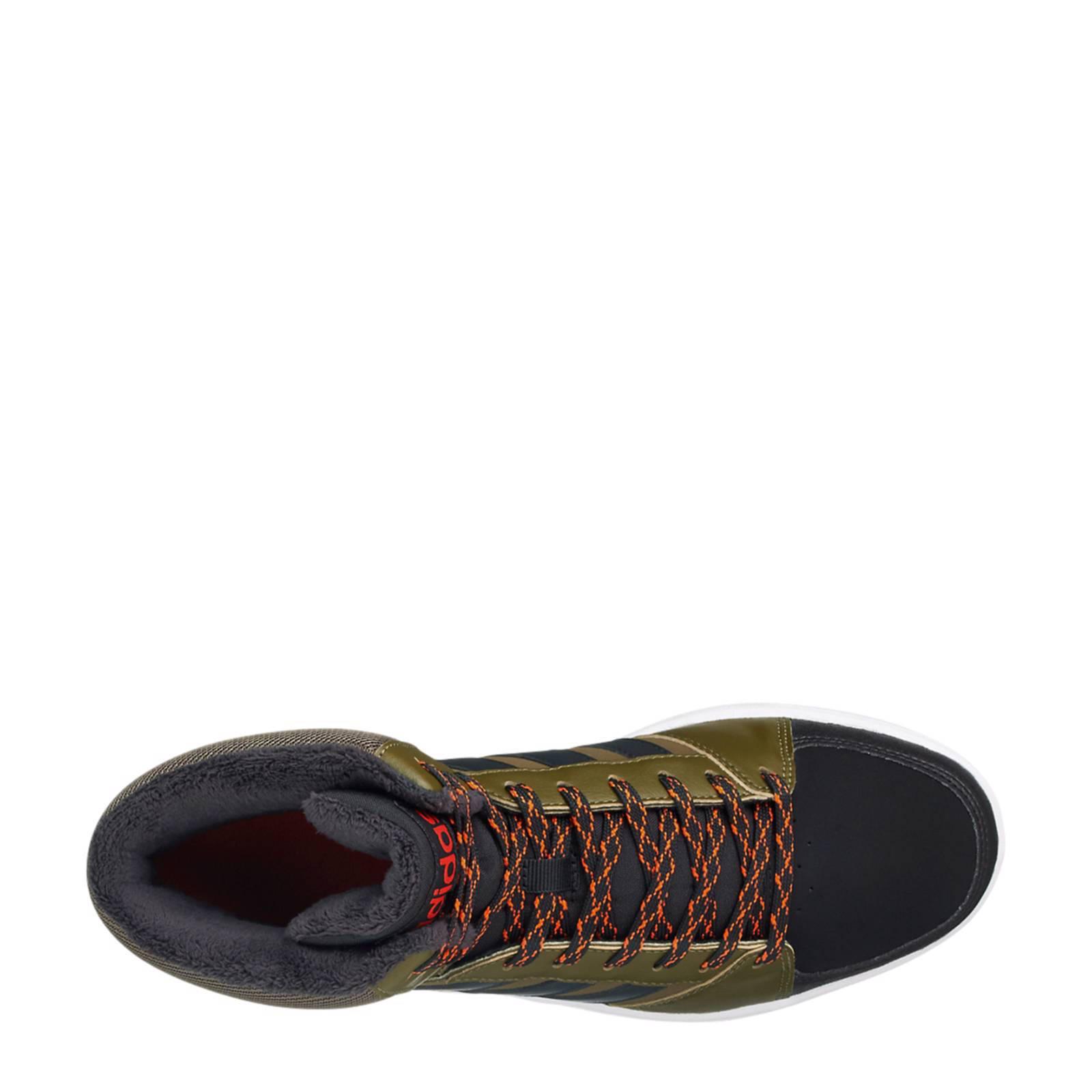 adidas Hoops VS Mid gevoerde leren sneakers   wehkamp