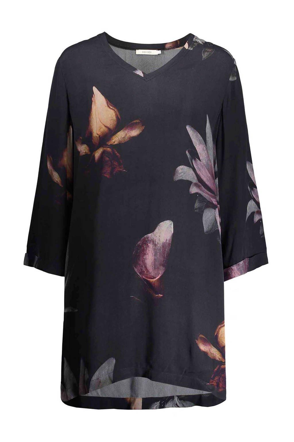 Sissy-Boy jurk, Zwart/paars/oranje
