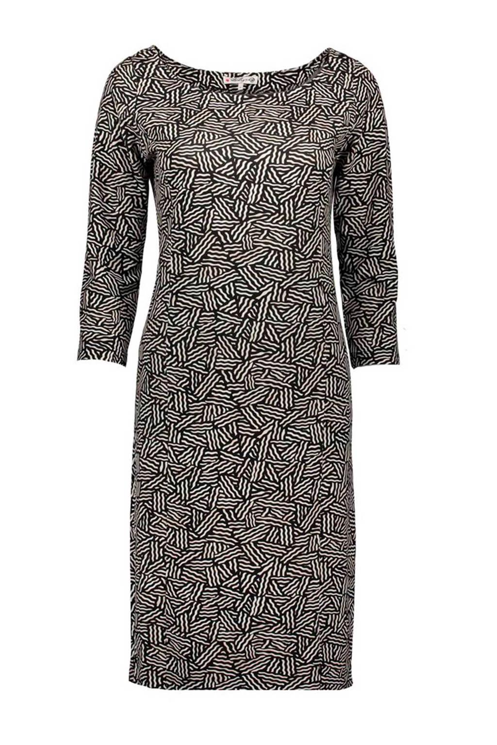 La Ligna jurk, Zwart/ecru