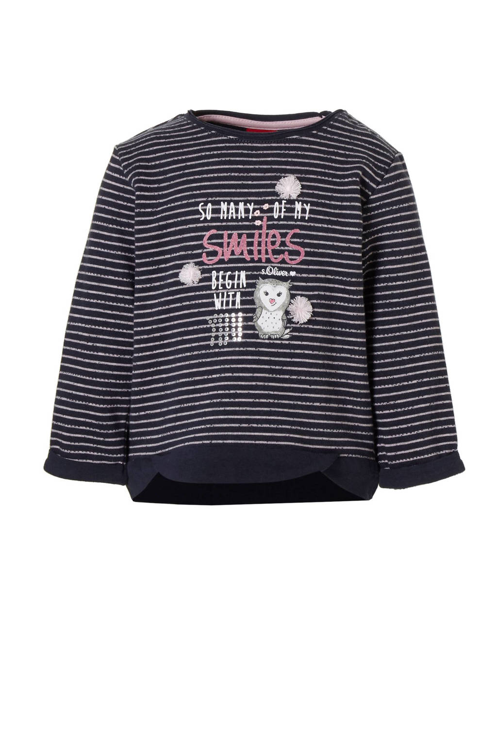 s.Oliver gestreepte sweater, Donkerblauw