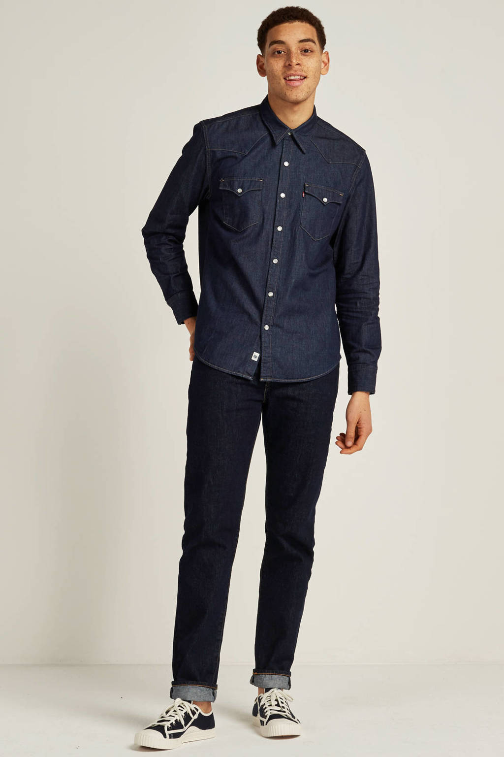 Levi's regular fit denim overhemd, Donkerblauw