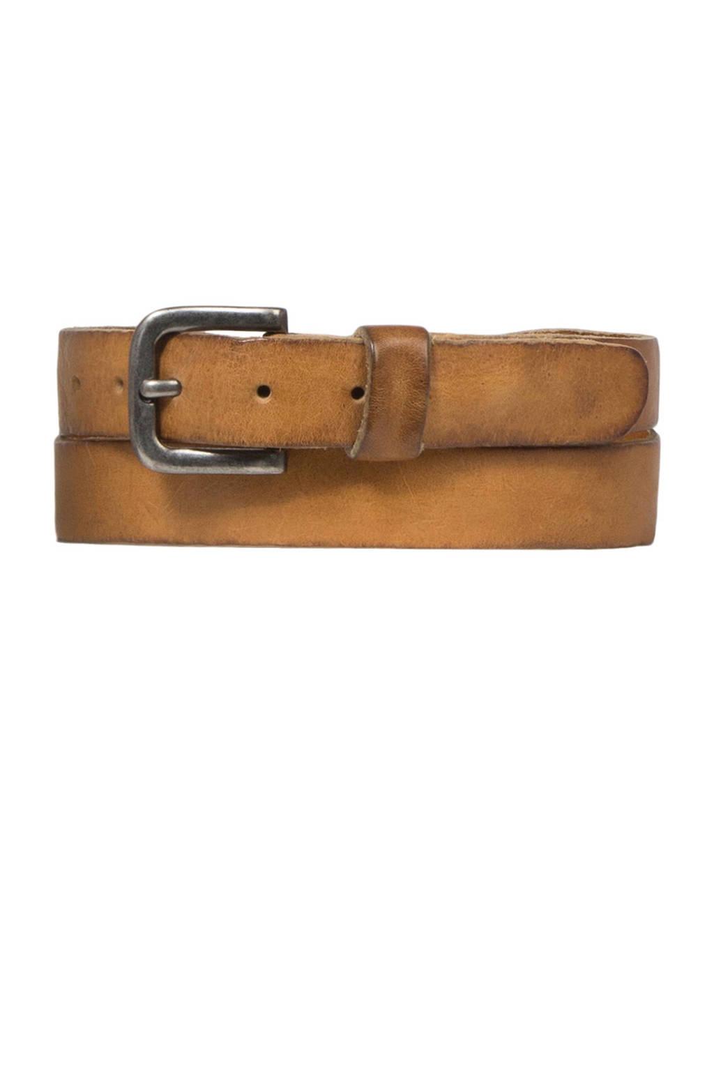 Cowboysbag Cowboysbelt leren riem, Lichtbruin