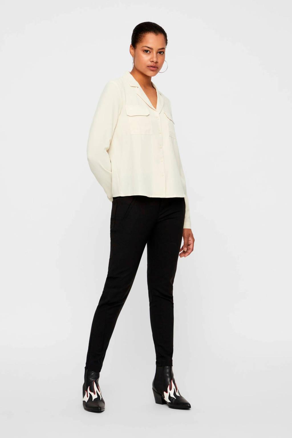 VERO MODA cropped pantalon, Zwart