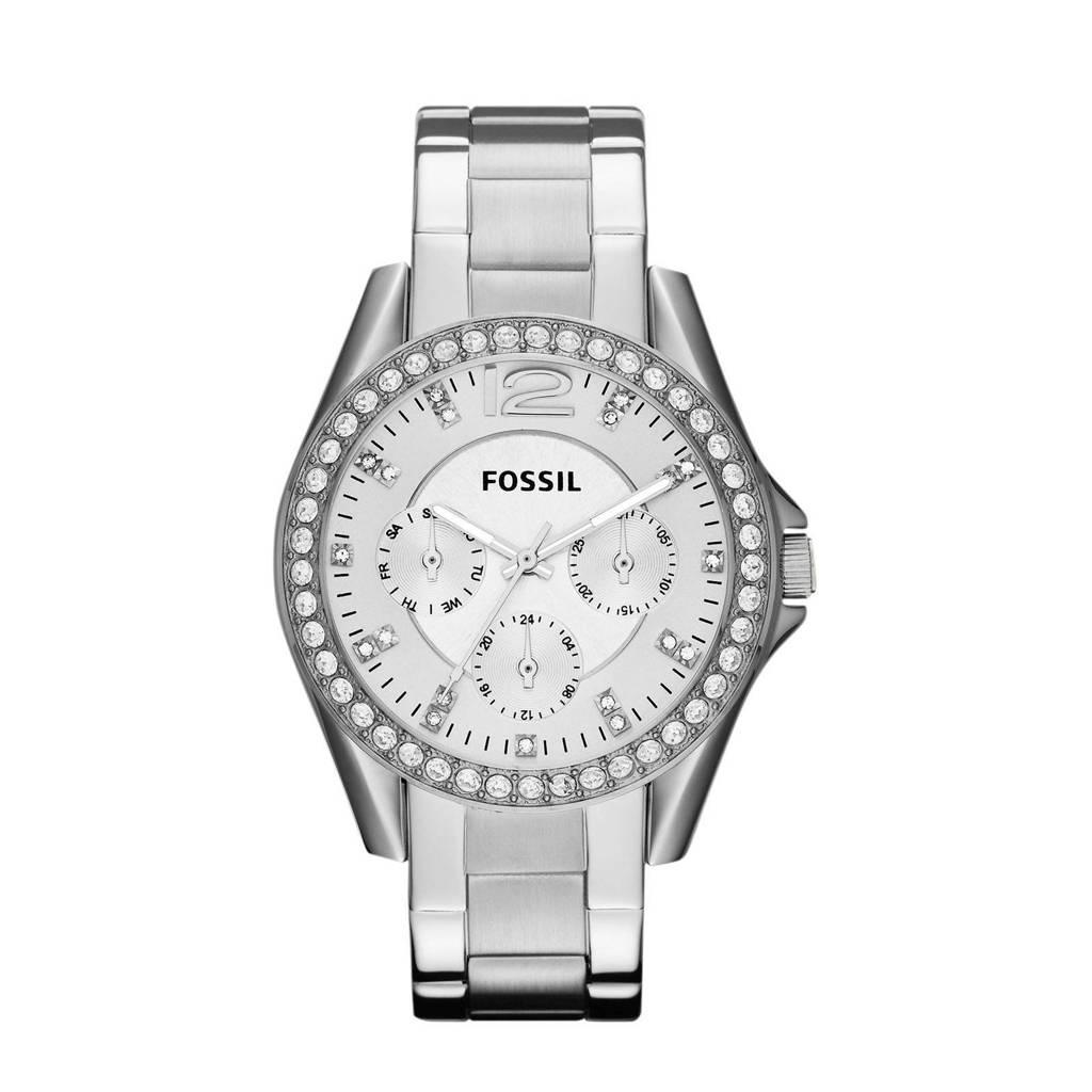 Fossil Riley Dames Horloge ES3202, Zilver