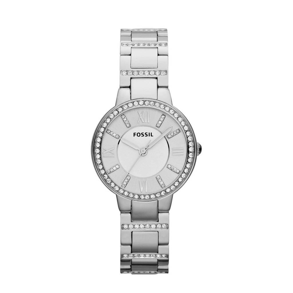 Fossil Virginia Dames Horloge ES3282, Zilver