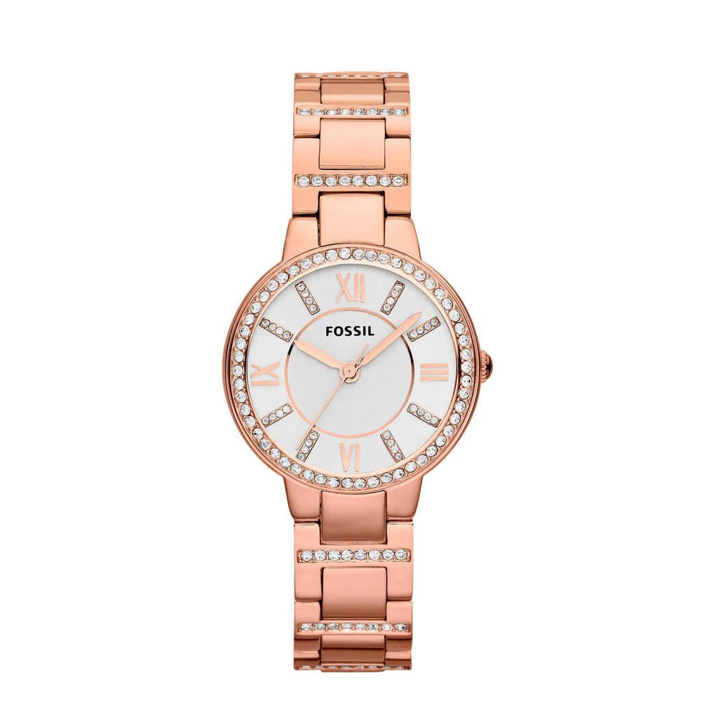 Fossil Virginia Dames Horloge ES3284, rosegoud