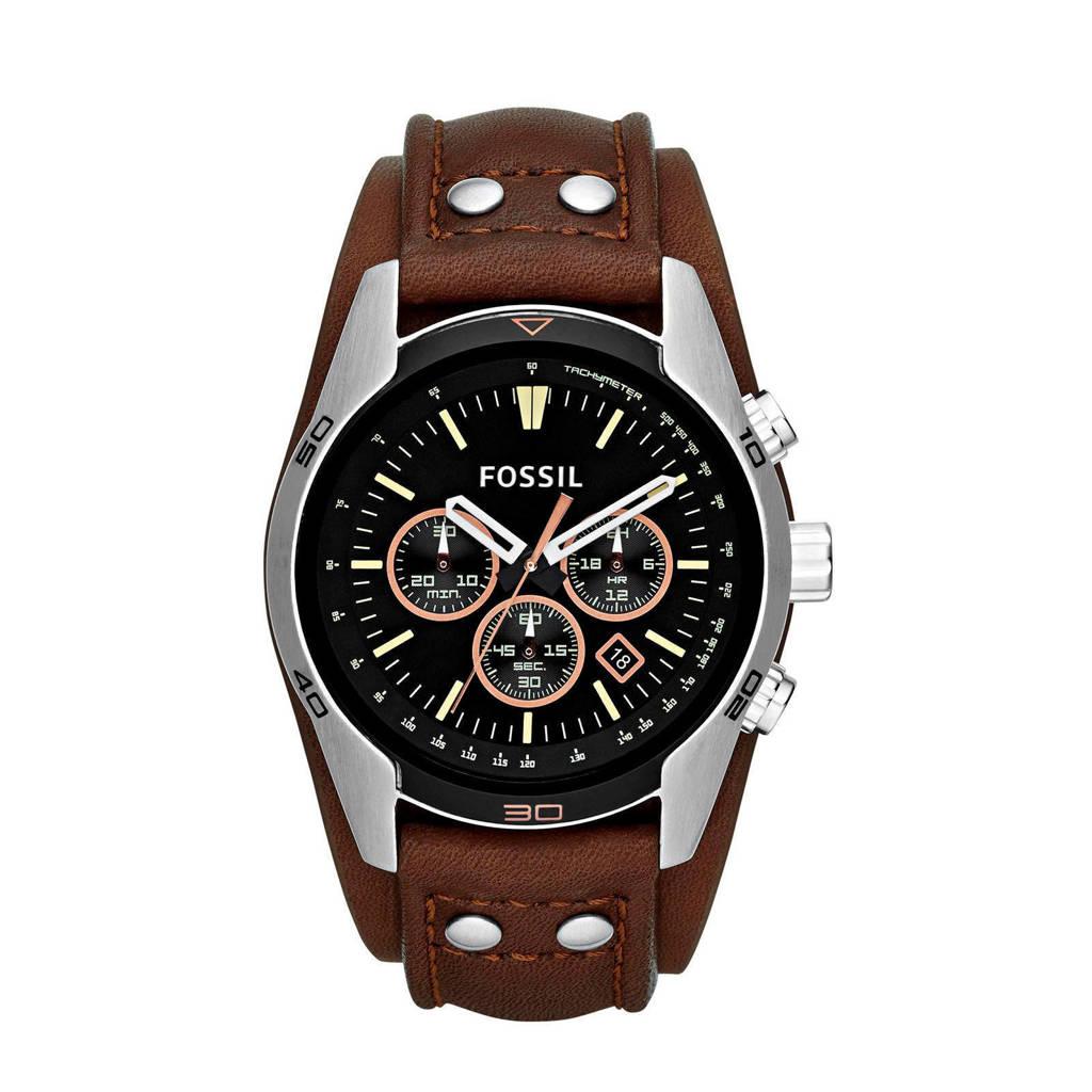 Fossil horloge Coachman CH2891 bruin/zilverkleur, bruin/ zilver