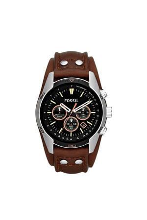 horloge Coachman CH2891 bruin/zilverkleur