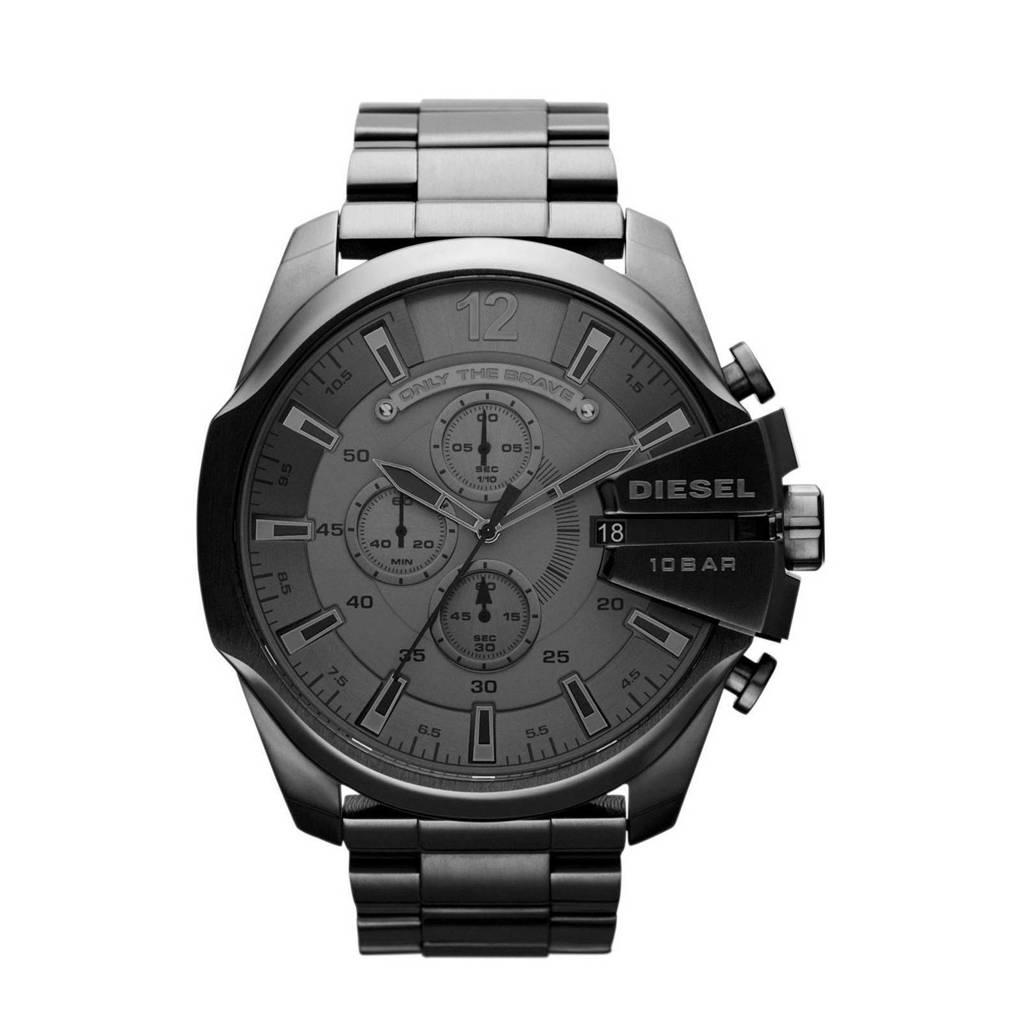 Diesel horloge Mega Chief  DZ4282 zilverkleur, Zwart
