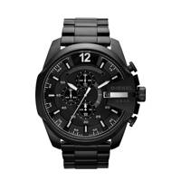 Diesel horloge Mega Chief DZ4283 zwart, Zwart