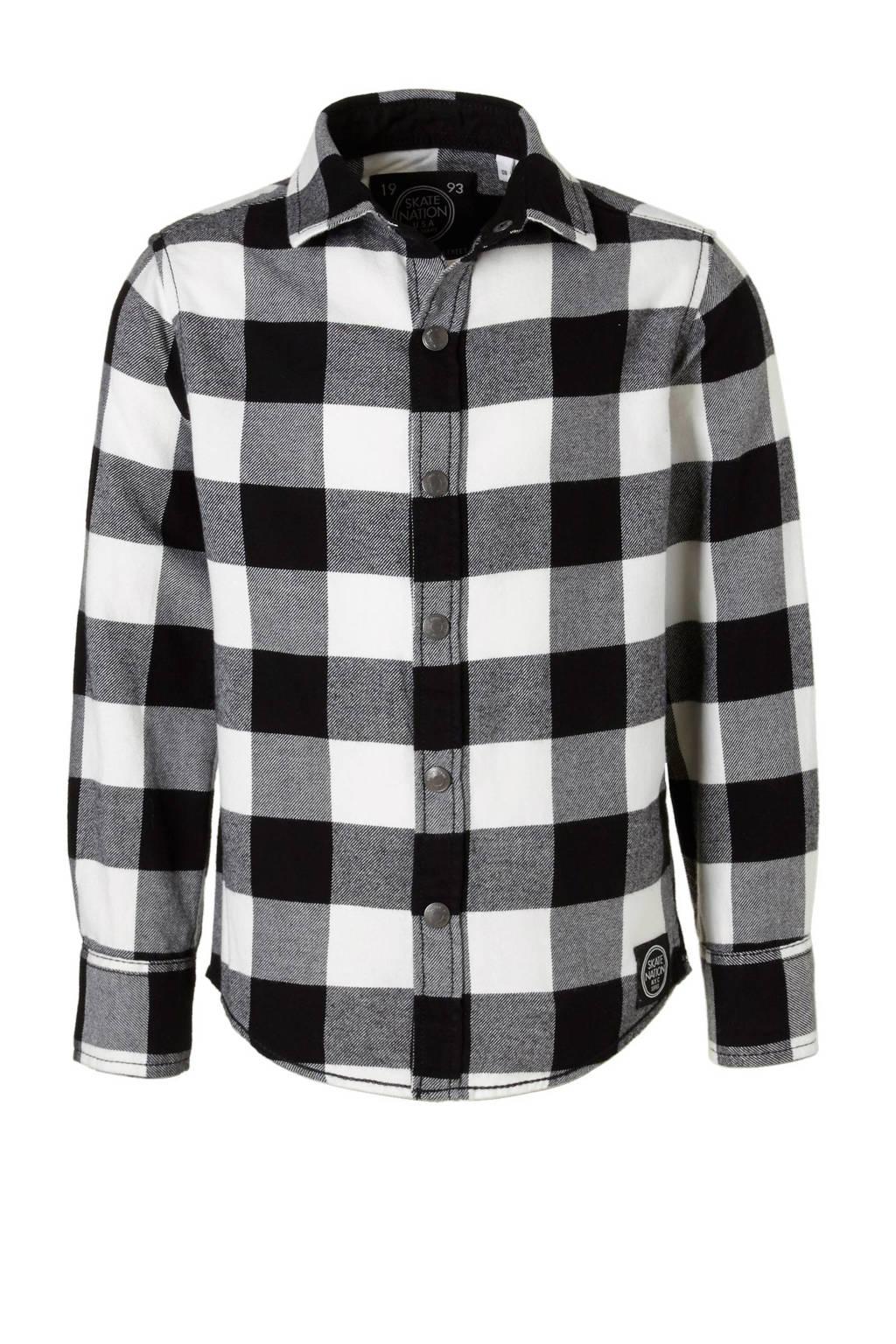5c80cbf0f22 C&A Here & There overhemd, Zwart/grijs/ecru