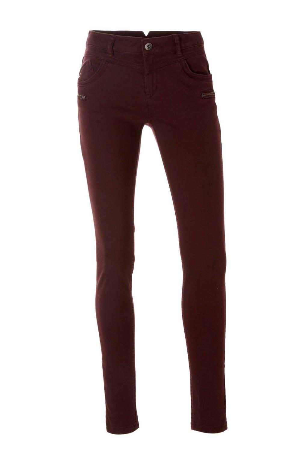 C&A Yessica skinny fit broek, Donkerrood