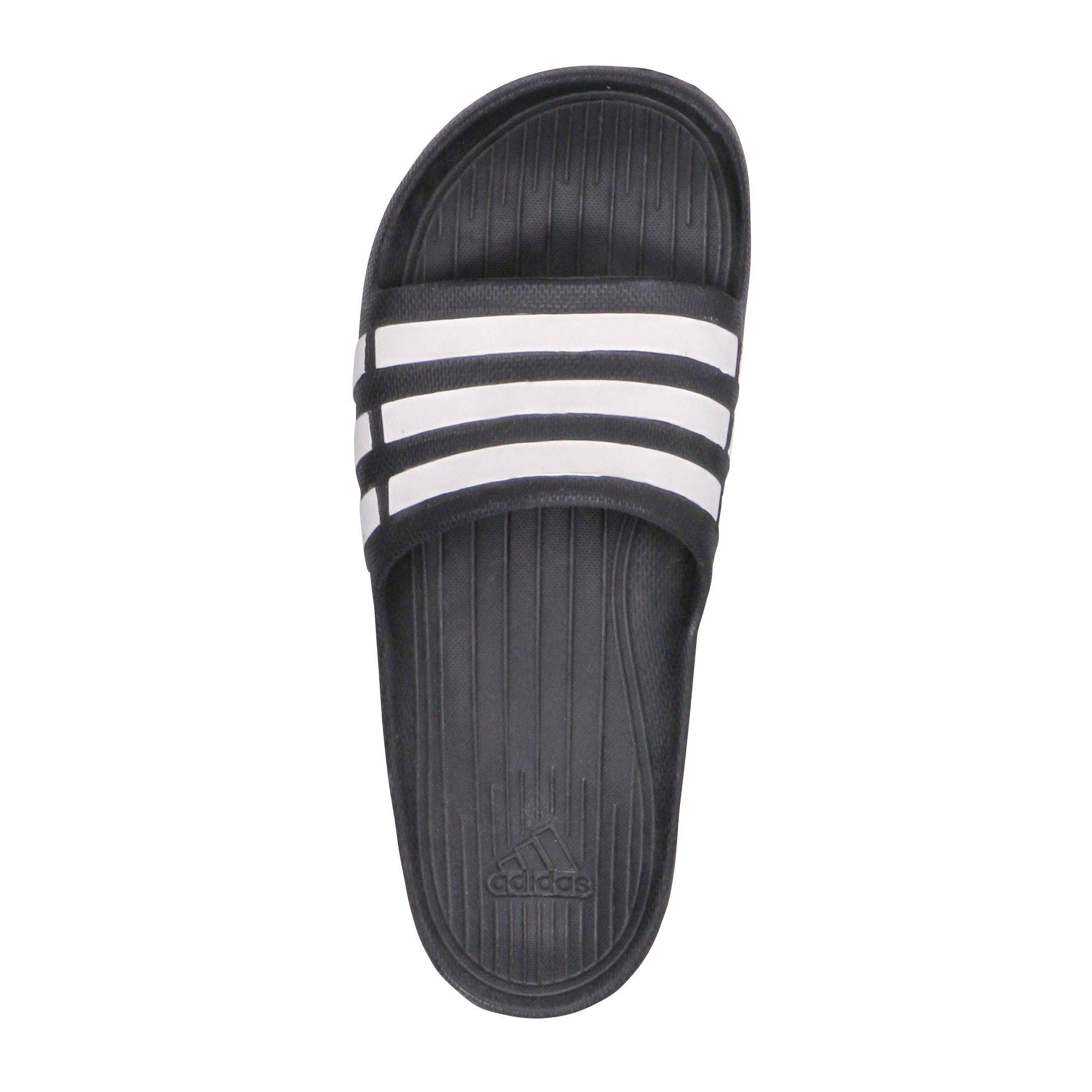 on sale a8715 7213c adidas performance Duramo Slide badslippers zwart  wehkamp