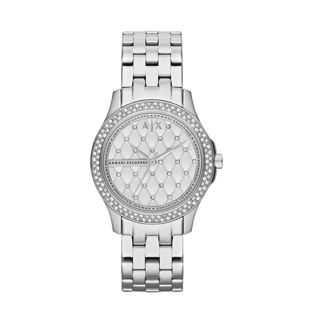 Armani Exchange Lady Hampton Dames Horloge AX5215, Zilver