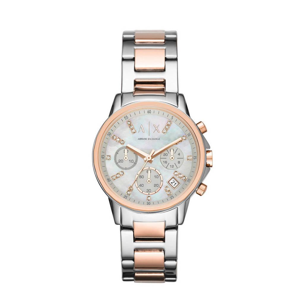 Armani Exchange chronograaf horloge, rosegoud