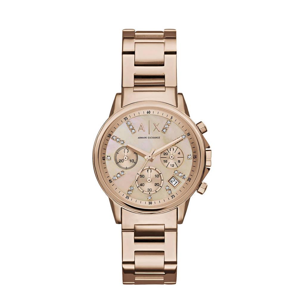 Armani Exchange dames horloge Lady Banks AX4326, rosegoud