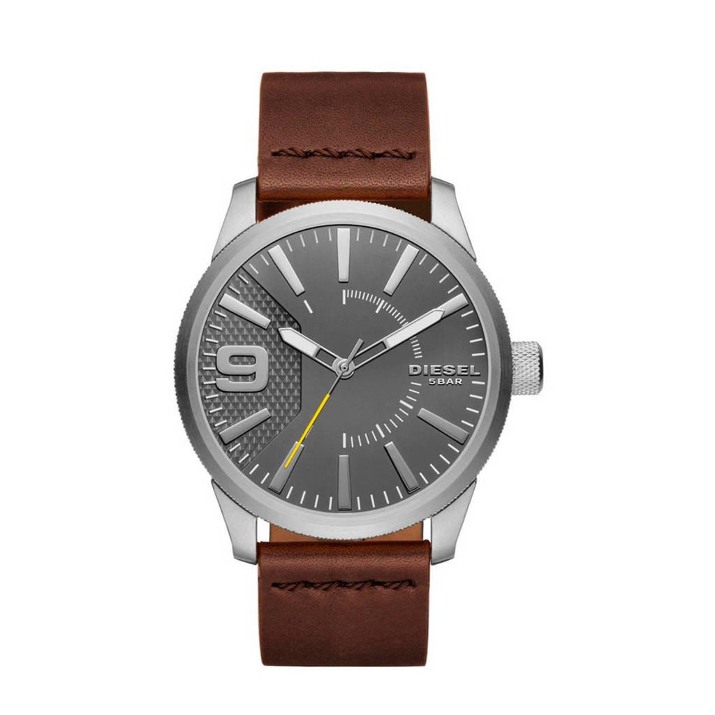 Diesel horloge Rasp DZ1802 zilver, Zilver