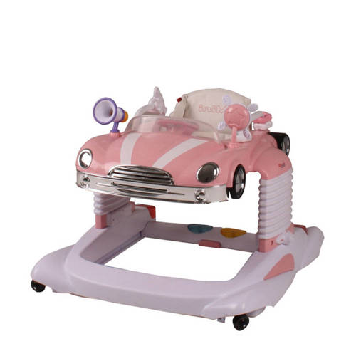 Loopstoel Happy Baby Walker Vliegende Hollander Roze roze