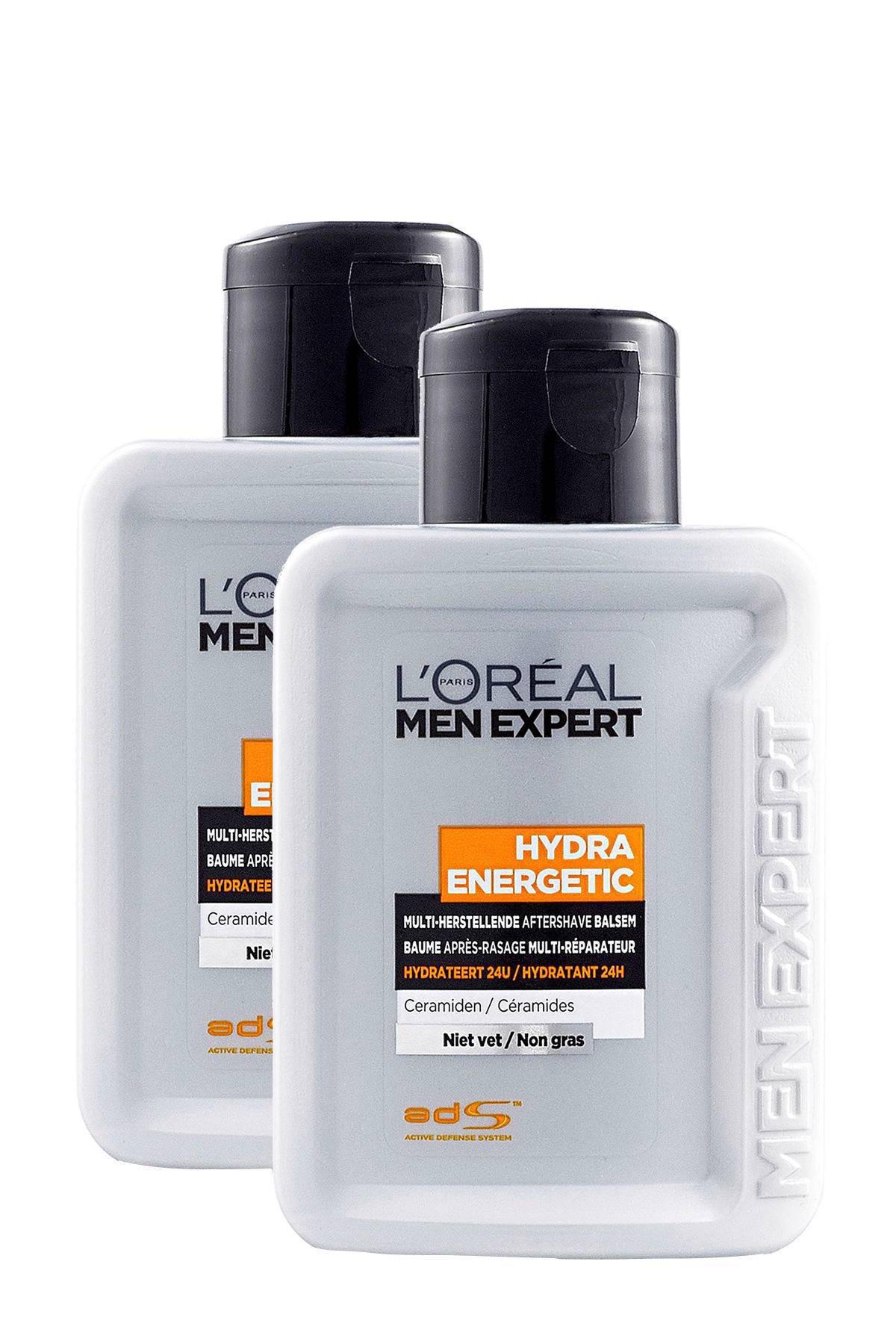 L'Oréal Paris Men Expert 24-uurs Hydraterende balsem - 2 x 100 ml