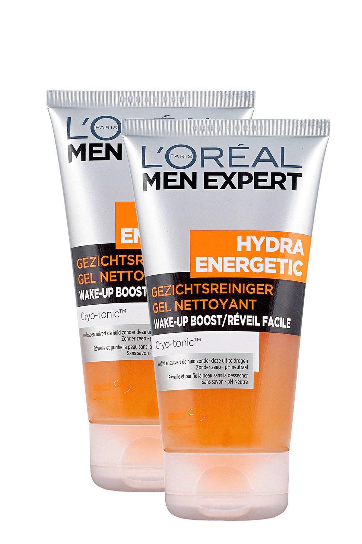 L'Oréal Paris Men Expert Hydra Energetic reinigingsgel - 2 x 150 ml