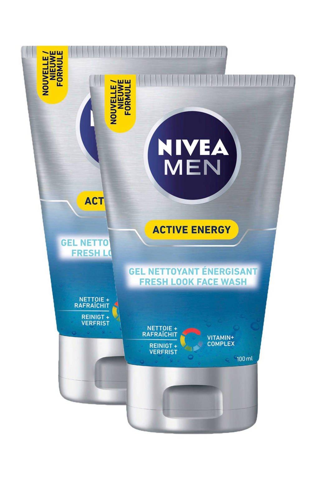 NIVEA FOR MEN Active Energy Face Wash