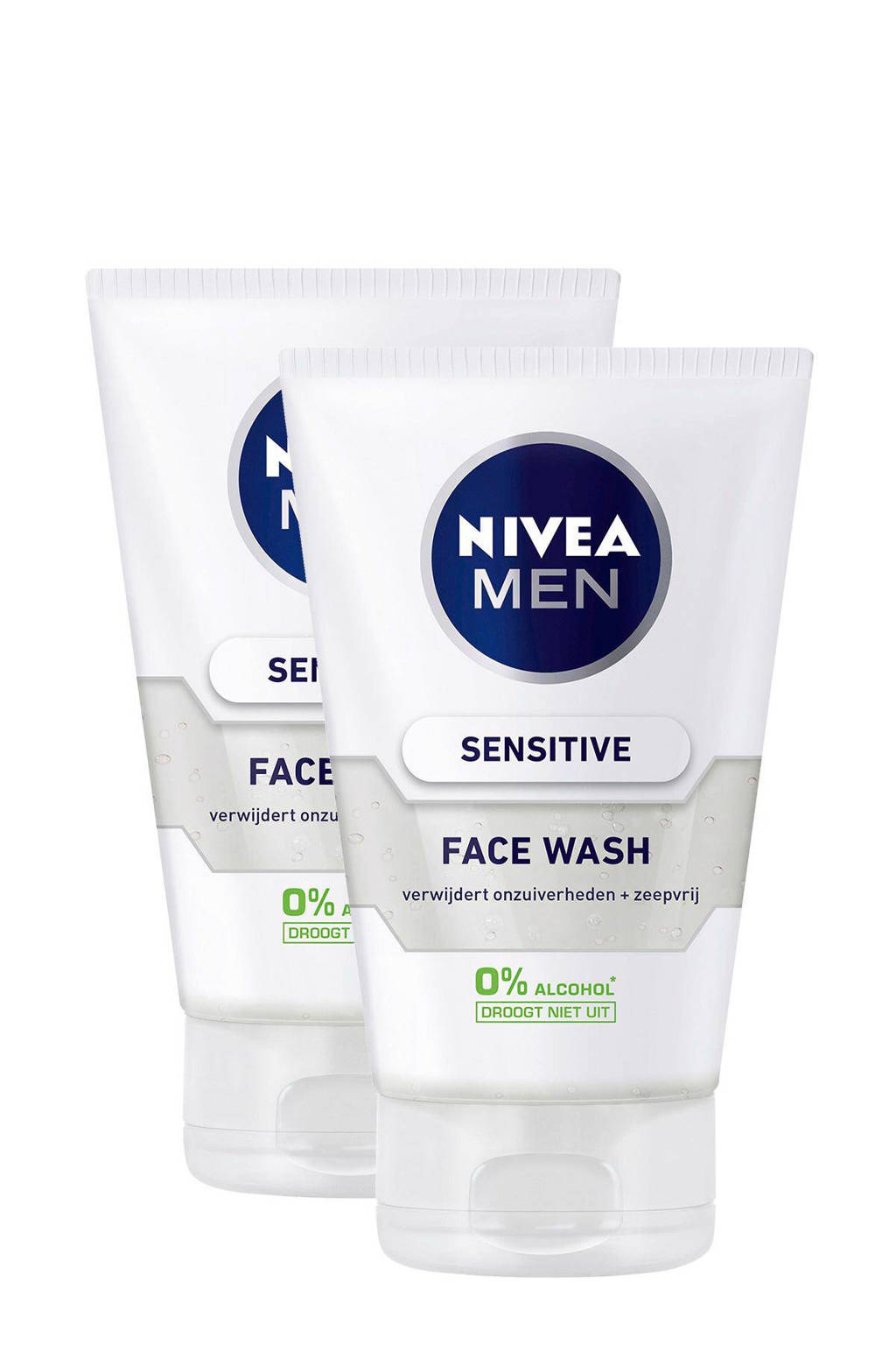 NIVEA FOR MEN Sensitive reinigingsgel (2 stuks)