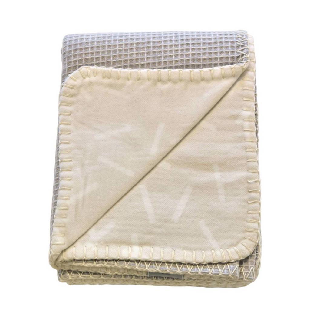 Lodger Dreamer ledikantdeken 110 x 140 cm honeycomb ivory, 110x140, Ivory
