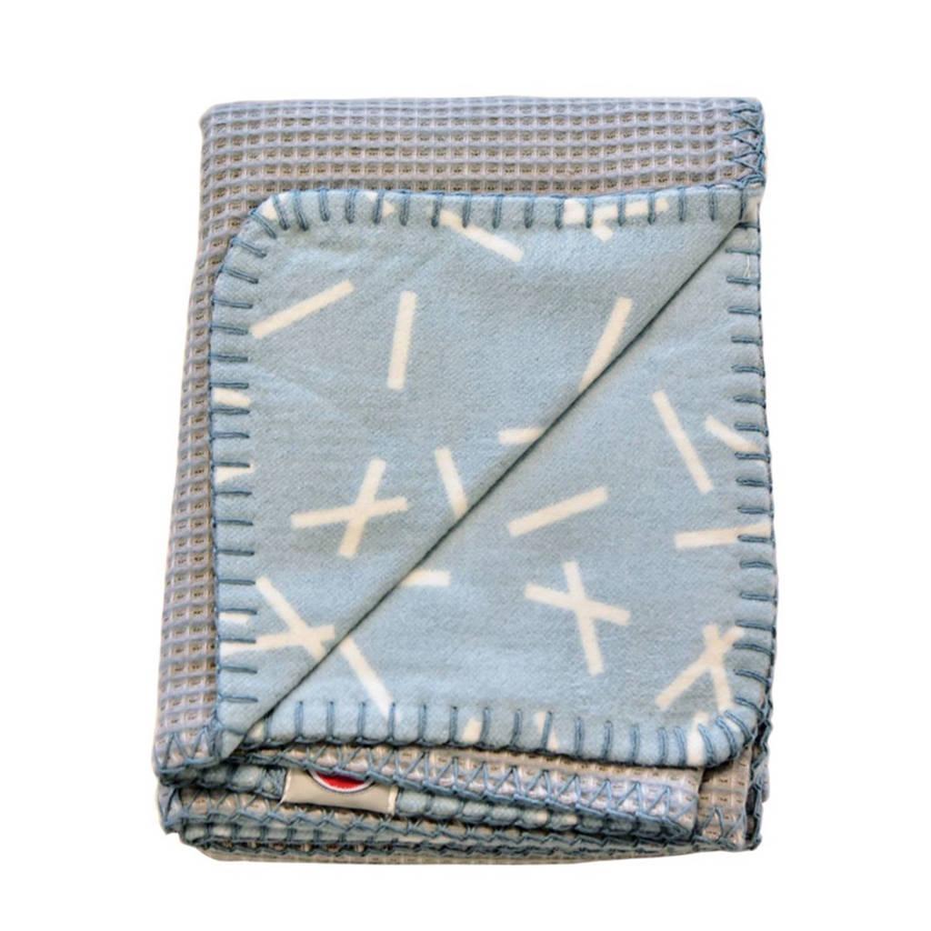 Lodger Dreamer ledikantdeken 110 x 140 cm honeycomb steelgrey, 110x140, Steelgrey